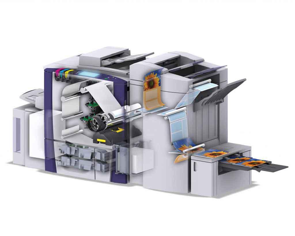 Внутреннее устройство цифрового типографского принтера